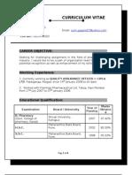 Sunil Gagare Resume