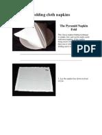 Folding Cloth Napkins