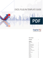 CAPIQ - Excel Plug-InTemplate Guide