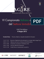 AGIRE - ANTOITALIA Sixth Italian Real Estate Golf Championship 2012_ 4 June