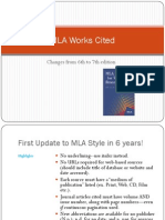 MLA Works Cited Format