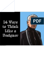 14 Ways to Think Like a Designer