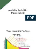 Kuliah Reliability, Availability, Maintain Ability