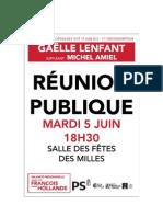 Invitation réunion publique du 5 juin