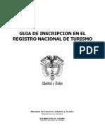 Doc.registro Nacional de Turismo - Guia de Inscripcion