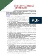 MANEJO DE LAS VÍAS AÉREAS ARTIFICIALES