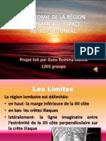 L'ANATOMIE DE LA RÉGION LOMBAIRE ET L'ESPACE RETROPÉRITONÉAL