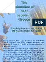 The Education of Deaf People in Greece