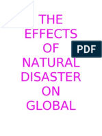 The Effects of Natural Disaster on Global Economics Edited