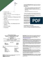 Community Worship Service Program and GMC Bulletin_2012-05-27