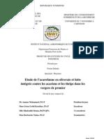 Etude de l'acarofaune en oliveraie et lutte intégrée contre les acariens et les thrips dans les vergers de prunier