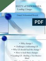 Daniel Rosyid, UI Memimpin Perubahan