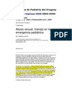 Abuso Sexual, manejo en la emergencia médica