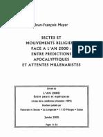 2000 MAYER Sectes Et Mouvements Religieux an 2000