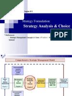 05. Strategy Formulation. Strategy Analysis & Choice (8-10M)