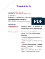 Proiect de Lectie- Psihologie-2