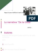 La Narrativa - De La Onda