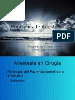 Principios de anestesia