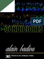Badiou Alain - Condiciones