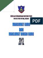 Cover Depan Maklumat Guru Dan Staff