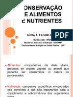 Conservação de alimentos e nutrientes