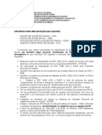 Criterios Para Implantacao Do Esf