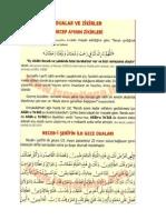 Recep Ayinin Zikirleri - Cübbeli Ahmet Hoca