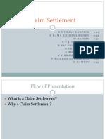 Claim Settlement