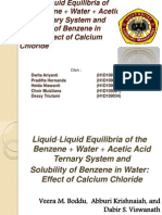 Liquid-Liquid Equilibria of the Benzene + Water +