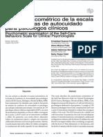 Analisis Psi Comet Rico de La Escala de Autocuidado de Psicologos Clinicos