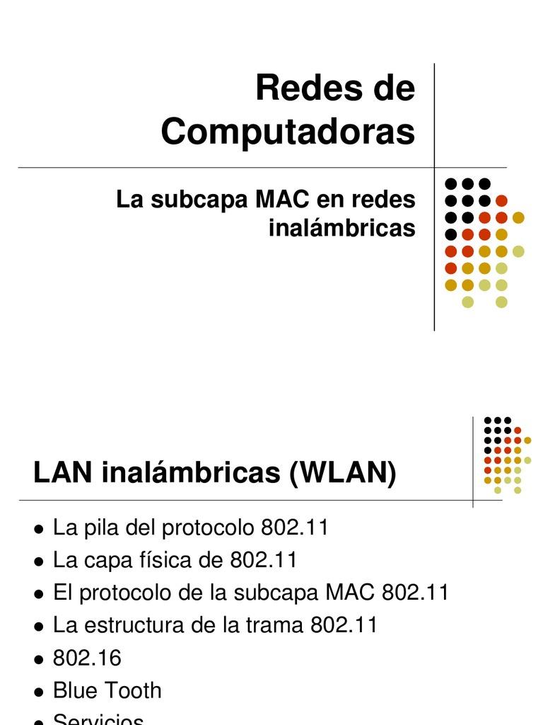 4.3La Subcapa MAC WLAN