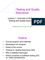 Lec 1 - Overview of STQA