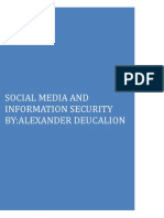 Social Media and Information Security