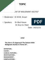 Malignant Ascites - Monday Seminar