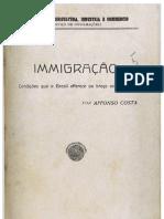 immigração - condições que o brasil offerece ao braço extrangeiro por affonso costa