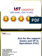 SLA Between FSC VP for Operations and Support