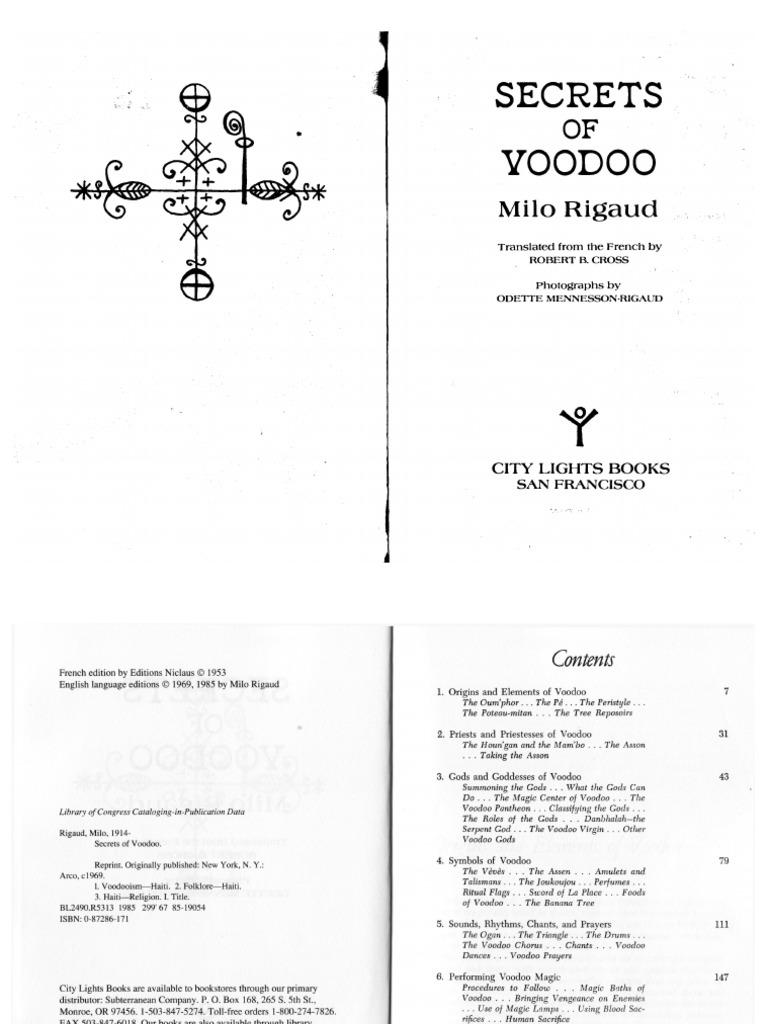 Milo Rigaud Secrets Of Voodoo Haitian Vodou Magic Paranormal