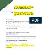ADMISSION 2012-13 Post Graduation or Graduation in Fast Track