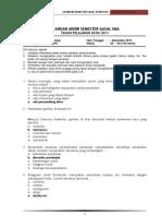 Soal Semester 1 Sosiologi XII IPS