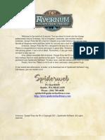 Avernum Instructions