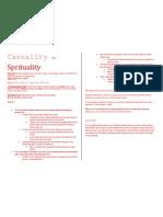 Carnality vs Sprituality