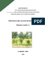 Protocolo Del Cultivo de Sacha Inchi