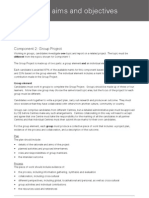 GP Group Project Aims and Objectives
