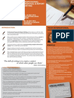 Professional Proposal & Report Writing 01 - 02  July 2012 Doha Qatar