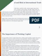 Impact of International Trade on Working Capital