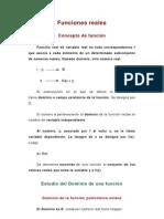Funciones Reales_ Resumen y Problemas