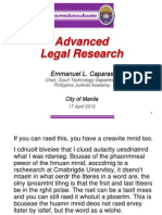 Atty. ECaparas-Legal Research