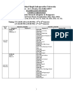 B. Tech. Final Date Sheet - May-June_ 2012