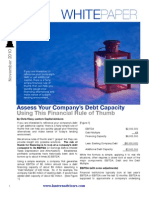 Assess Your Company Debt Capacity
