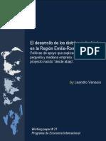 El desarrollo de los distritos industriales en la Región Emilia-Romagna (Italia) (Es)/ The development of industrial districts in the Emilia-Romagna region (Spanish)/ Industria barrutien garapena Emilia-Romagna eskualdean (Es)